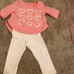Pink and white heart set